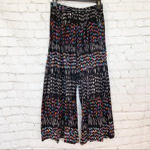 Missoni colorful wide leg pants culottes buttons